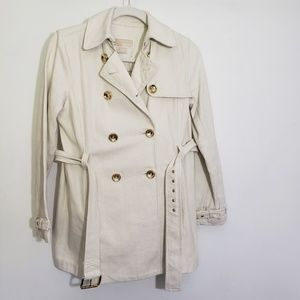 MICHAEL MICHAEL KORS BELTED CANVAS TRENCH COAT P/S